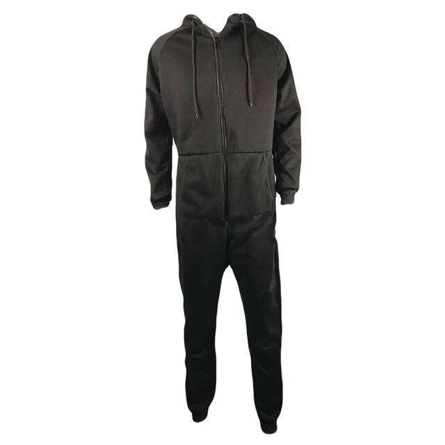 Thick Fleece Hooded Streetwear Onesie Men – 21JS