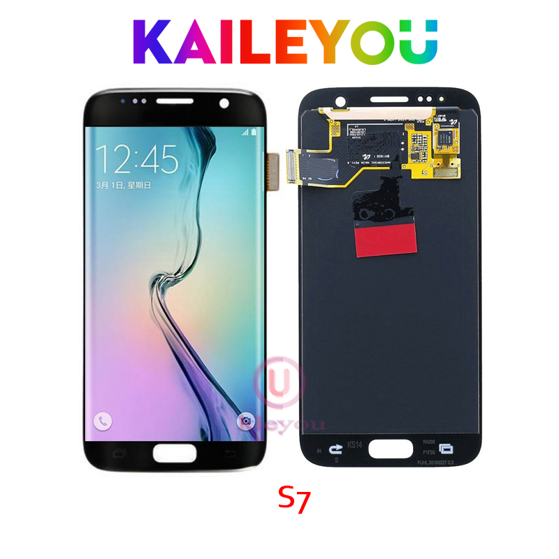 5 PCS 5.1'' Black white Gold ORIGINAL SUPER AMOLED LCD Display for SAMSUNG Galaxy S7 SM G930F Touch Screen Digitizer Assembly