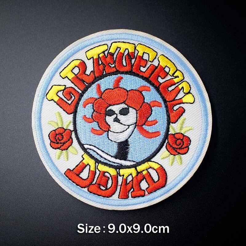 Музыка ткань патч значок вышитые Симпатичные значки хиппи железа на детей мультфильм нашивки для одежды наклейки - Цвет: U