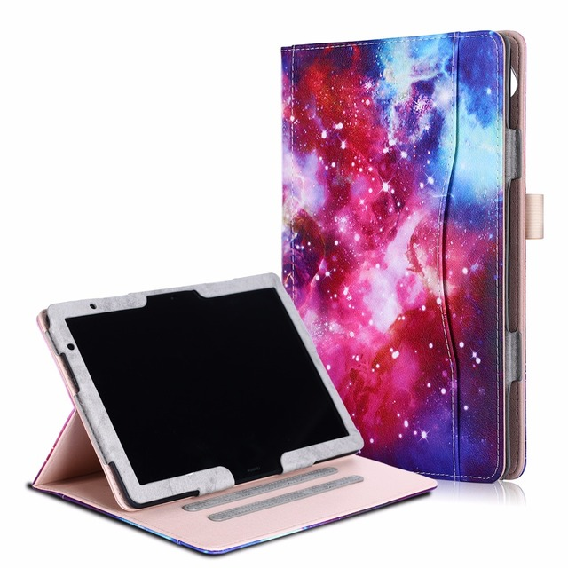 the latest 388d6 28dd0 US $14.43 22% OFF|Case For Huawei mediapad T5 10 10.1 Tablet case Smart  Cover for Huawei mediapad M5 Lite 10-in Tablets & e-Books Case from  Computer & ...