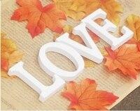 Size 12cmX1 5cm Thick Wood Carving Wooden White Letters Alphabet Alphanumeric Home Decor Decoration Wedding