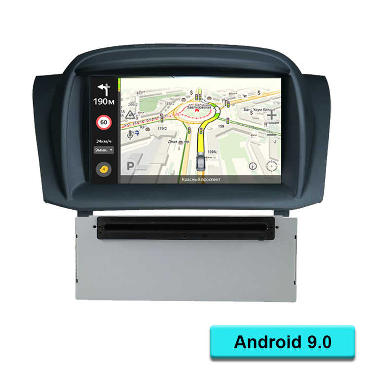 "7 ""Android 9.0 Auto DVD Stereo Voor Fiesta 2013 2014 2015 2016 Auto Radio GPS Navigatie Audio Video DAB + WiFi 1GB RAM"