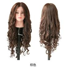 Человеческие волосы манекен головы Парикмахерская учебная голова манекен волосы натуральная голова манекена для парикмахера с человеческими волосами