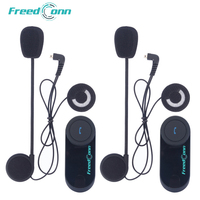 FreedConn 2 pcs T COM VB Moto wireless Helmet Headset 800M Bluetooth Interphone Motorcycle Intercom with FM Radio
