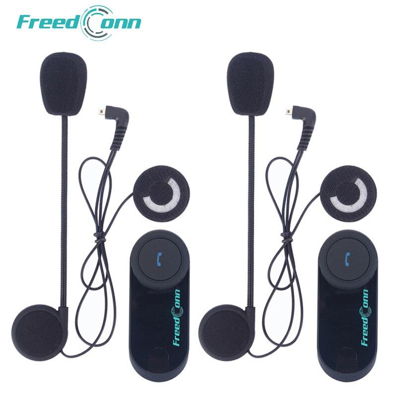 FreedConn 2 pcs T-COM VB Moto Helmet Headset 800M Interphone Bluetooth Motocicleta Interfone sem fio com Rádio FM