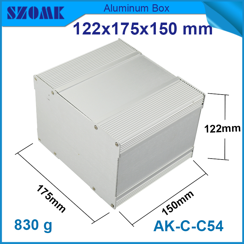 1piece free shipping new and silver color aluminum housing 122(H)x175(W)x150(L)mm GPS tracking aluminum enclosures with powdered 1 piece free shipping powder coating aluminium junction housing box for waterproof router case 81 h x126 w x196 l mm