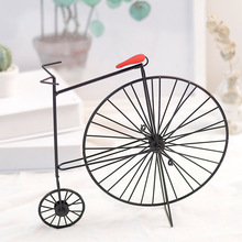 Metal Crafts Old Bicycle Model Retro Vintage Bike Antique Club Ornament Home Office Decor Christams Decoration