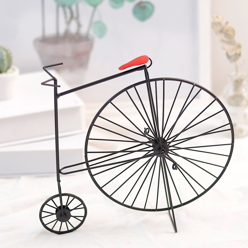 Metal Crafts Retro Vintage Old Bike Model Antique Bicycle Club Ornament Home Office Decor Christams Decoration Ation