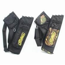 Mounchain caça Seta saco 4 Tubos Aljava Seta para a caça acessórios de Caça Tiro Com Arco Arrows Titular Saco com Alça Ajustável