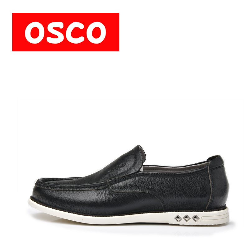 OSCO ALL SEASON New Men Shoes Fashion Men Casual leather slip on Shoes driver and loafers men Shoes #S3640 пена монтажная mastertex all season 750 pro всесезонная
