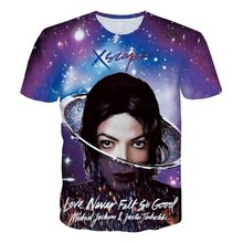 2017 New 3D T Shirt Michael Jackson XSCAPE Print Men Women Fashion 3d T-shirt Short Sleeve Summer Tee Top Plus Size S-5XL R2443