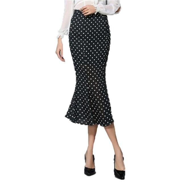Gasa de las mujeres falda de encaje 2017 primavera verano retro pastoral vintage moda midi faldas de impresión sexy volantes falda sirena