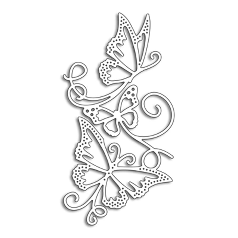 Flowing Butterflies Dies Scrapbooking New Arrival Metal Cutting Dies Alinacrafts Craft Die Cut Card Making 111 59mm in Cutting Dies from Home Garden
