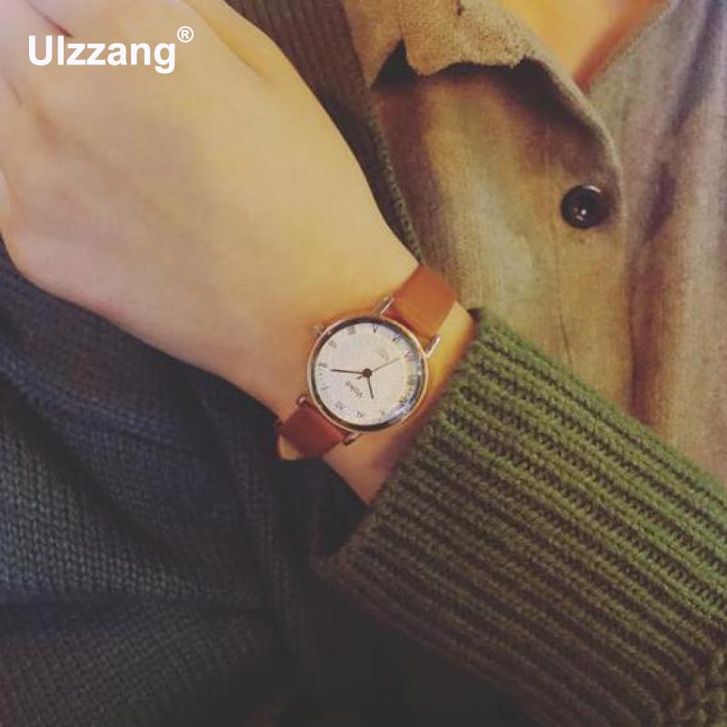 Fashion Quartz Women Watch Small Simple Small Round Dial Watch PU Leather Ladies Watch Quartz Watch Relojes Mujer 2017 quartz watch with small diamond dots indicate leather watch band hearts pattern dial for women