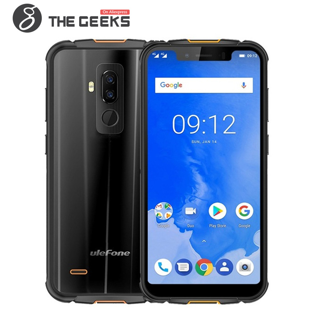Ulefone Armure 5 IP68 Étanche Mobile Téléphone 5.85 HD + Octa Core 4 gb + 64 gb Android 8.1 NFC Visage ID Sans Fil Charge 4g Smartphone