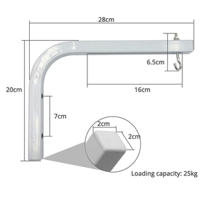 """Image 3 - AAO Projector Screen Wall Mount Brackets """"L"""" Mounting Extension Projection Screens Hook Bracket Wall Mounting Arms Holder Stand"""