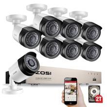 Zosi HD TVI 8CH 1080 1080pセキュリティカメラシステムキットと8*2.0メガピクセルデイナイトビジョンcctvのホームセキュリティカメラビデオ監視