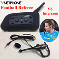 Vnetphone Árbitro de Fútbol Profesional de Árbitros Del Intercomunicador full-duplex 1200 M auriculares V6 Inalámbrico BT Intercom Interphone Auricular