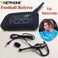 Vnetphone Interfone full duplex 1200 M Árbitros Árbitro de Futebol Profissional headset V6 BT Interfone Interfone Sem Fio do Fone de ouvido
