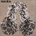 New Women's Fashion special leopard printed Design chiffon georgette silk like scarf/ shawl!retail&wholesale