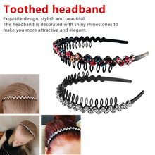 1 PC Unisex Plastic Black Toothed Sports Hair band Wavy Hair Hoop Headband Head wear Hair Styling Accessories wave headband forever yung woman lady black plastic 0 2 width wavy hair hoop hairband