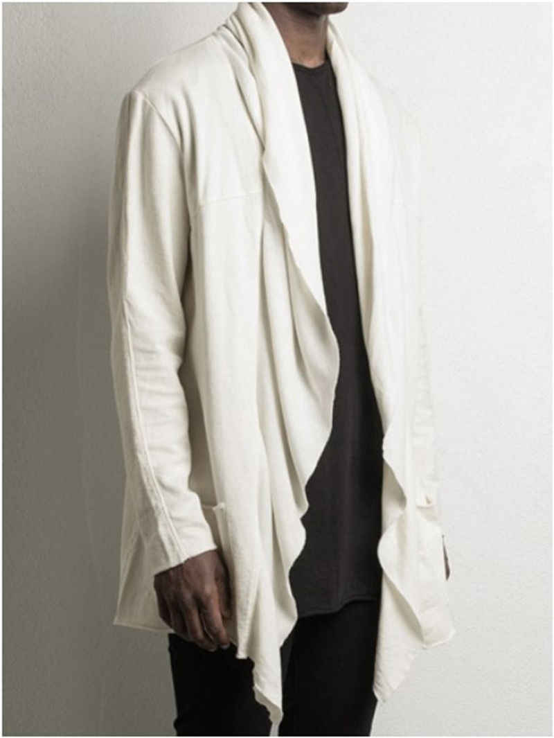 春の秋のメンズ Striaght カジュアル暖かい滝ロングトレンチ綿高品質の男性のコート黒、白カーキジャケット生き抜く