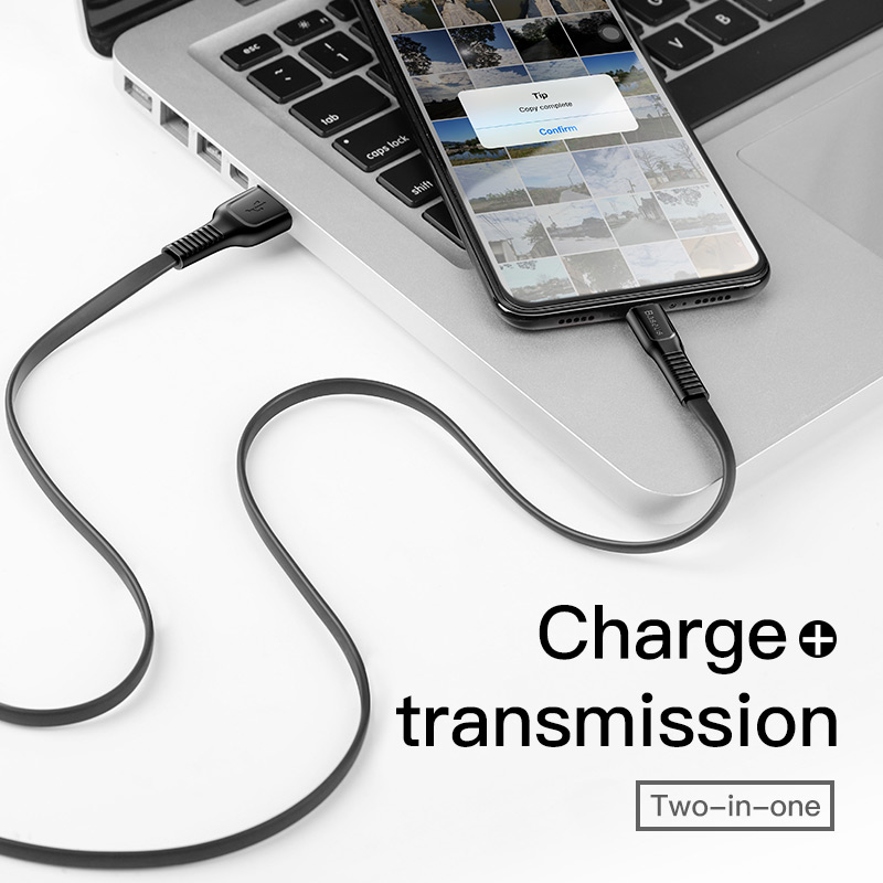 baseus mini flat usb cable for iphone ipad and other mobile phones with fast charger