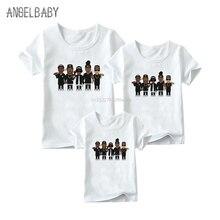Одинаковые комплекты для семьи Футболка с принтом NWA Straight Out Compton Одинаковая одежда для семьи Забавные футболки для детей, мужчин и женщин