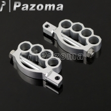 PAZOMA Foot Pegs  fit for ALL motorcycle with male-mount foot pegs Foot Pegs Sportster Softail Dyna Touring CHROME  цена