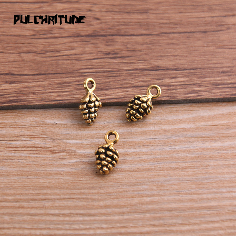 20pcs 5*7*13mm New Three Color Pine Nut Charms  Christmas Pendants For DIY Jewelry Handmade Making Accessorie P6794 4