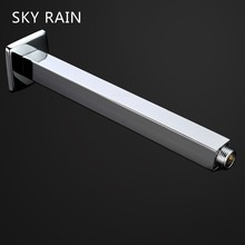 SKY RAIN Bathroom Accessories Shower Arm Brass Chrome Plated Square Polished