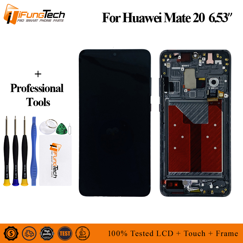 6 53 LCD with Frame For Huawei mate 20 LCD Display Touch Screen Digitizer Assembly Replacement