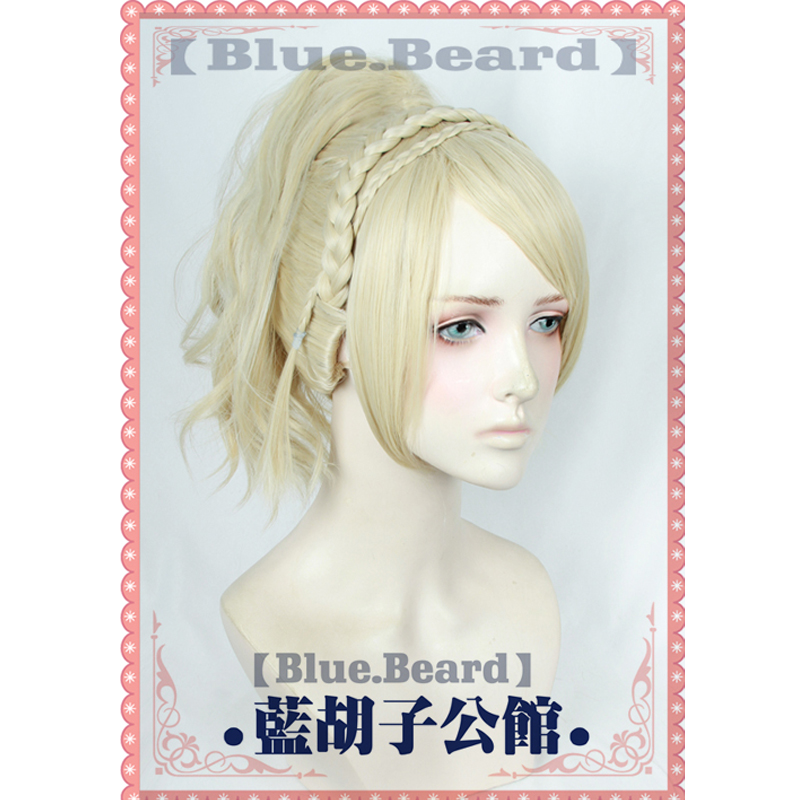 Lunafreya Nox Fleuret Cosplay Wig Final Fantasy XV Costume FF15 XV Short Curly Synthetic Hair Anime Cosplay Costume Wigs + Cap
