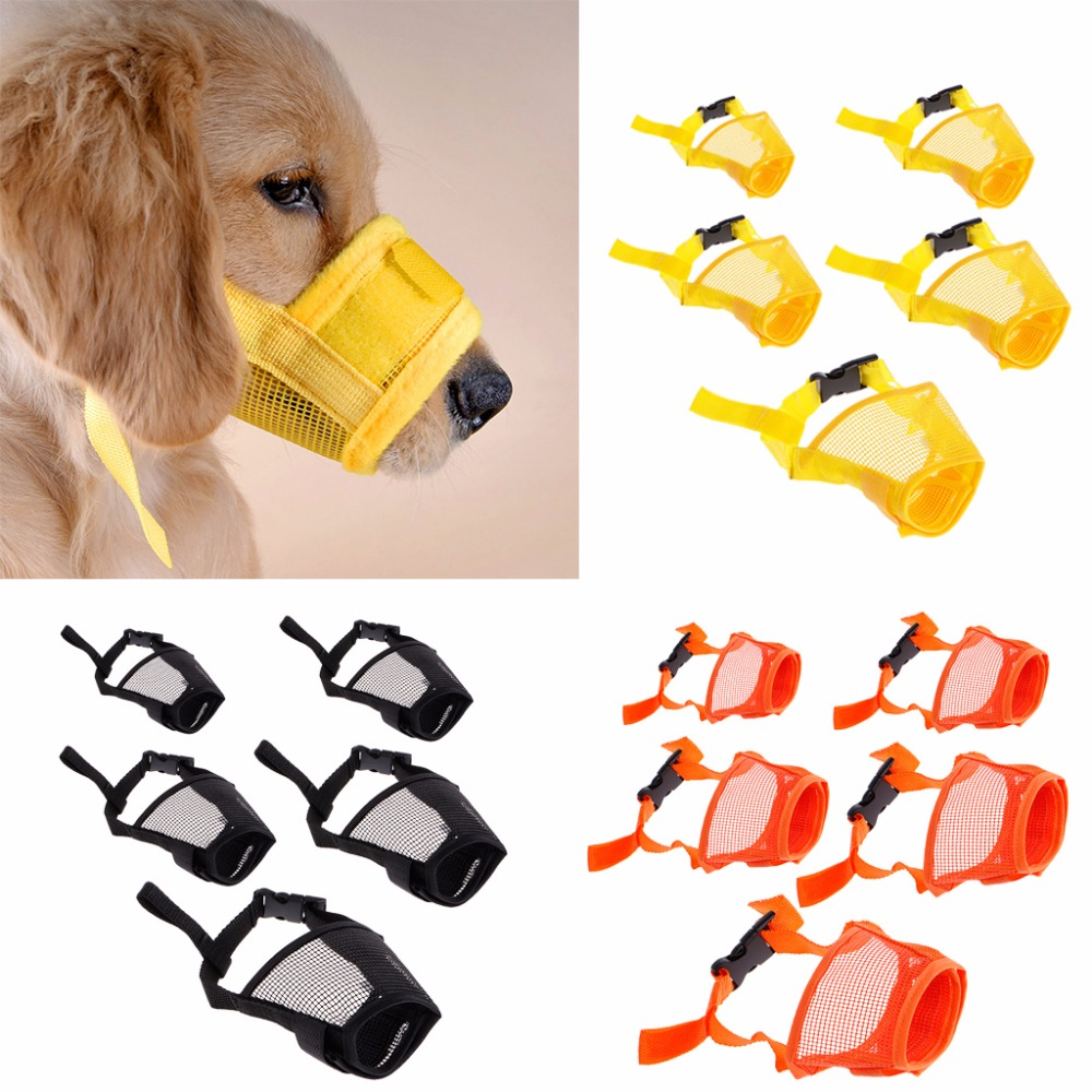 M//L//XL Adjustable Dogs Pet Nylon Preventing Barks Mouth Muzzle Anti Biting Mask