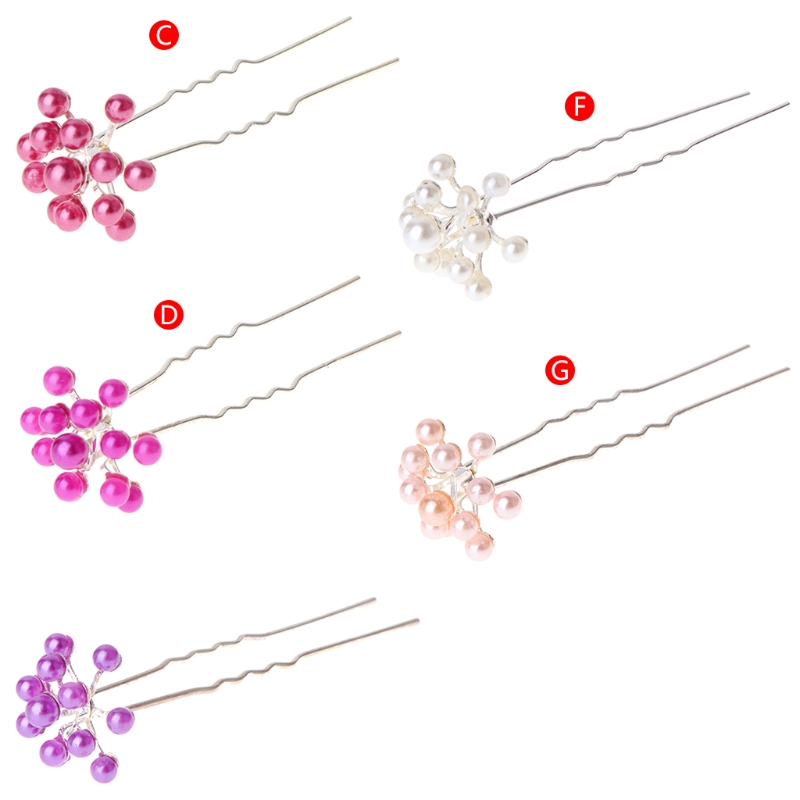 1pc Bride Hairpins New Fashion Style Faux Pearl Bride Hair Accessories Wedding Party Hair Pins Women Jewelry Headwear