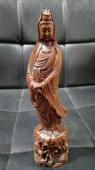Boxwood carvings carved Guanyin Buddha ornaments and decorations