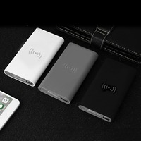 10000mAh Power Bank QI Wireless Charger Powerbank Built in Wireless Charging Pad Universal USB Charger with LED Indicators