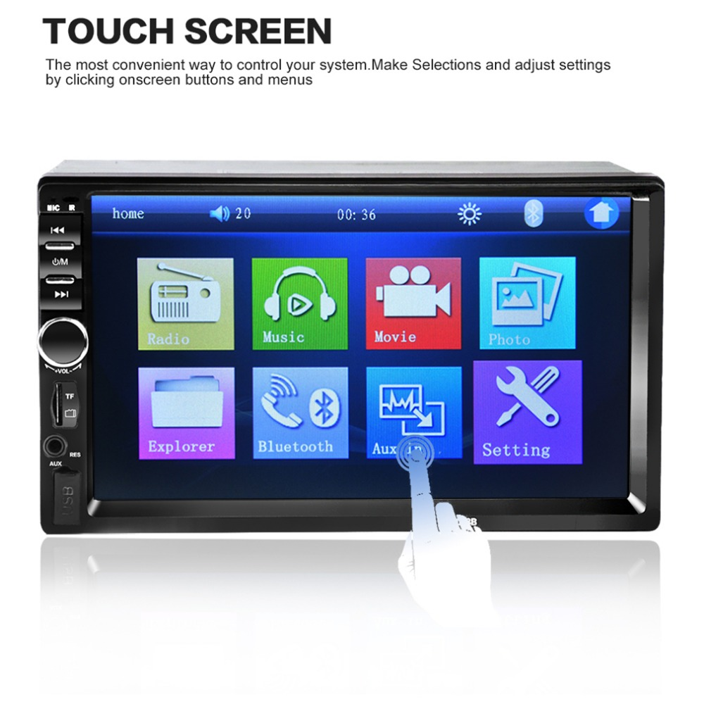 2018 Hot Sale 7018B 7 Inch Bluetooth Audio In Touch Screen Car Radio Car Audio Stereo Car MP3 MP5 Player USB Support for SD/MMC 2 din car radio mp5 player universal 7 inch hd bt usb tf fm aux input multimedia radio entertainment with rear view camera