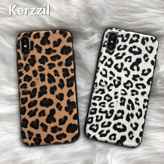 Kerzzil Leopard Matte Silicone Case For iPhone X XR XS Max Soft TPU Cases Cover For iPhone 8 7 6 6s Plus Back Capa