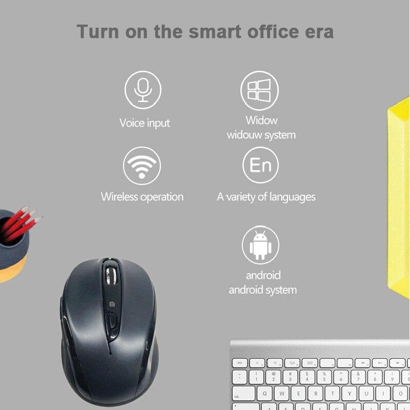 2019 Hot souris vocale sans fil souris sans fil soutien voix bureau maison contrôle multilingue typage recherche pour DOY