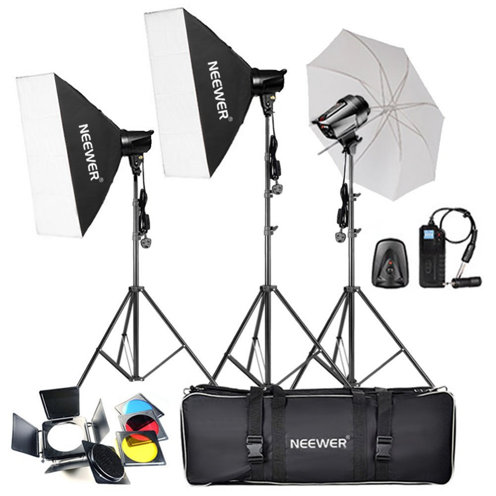 Neewer 540 w Professionnel Photographie Studio Flash Stroboscopique Kit D'éclairage pour la Photographie de Portrait, Studio et Vidéo Pousses
