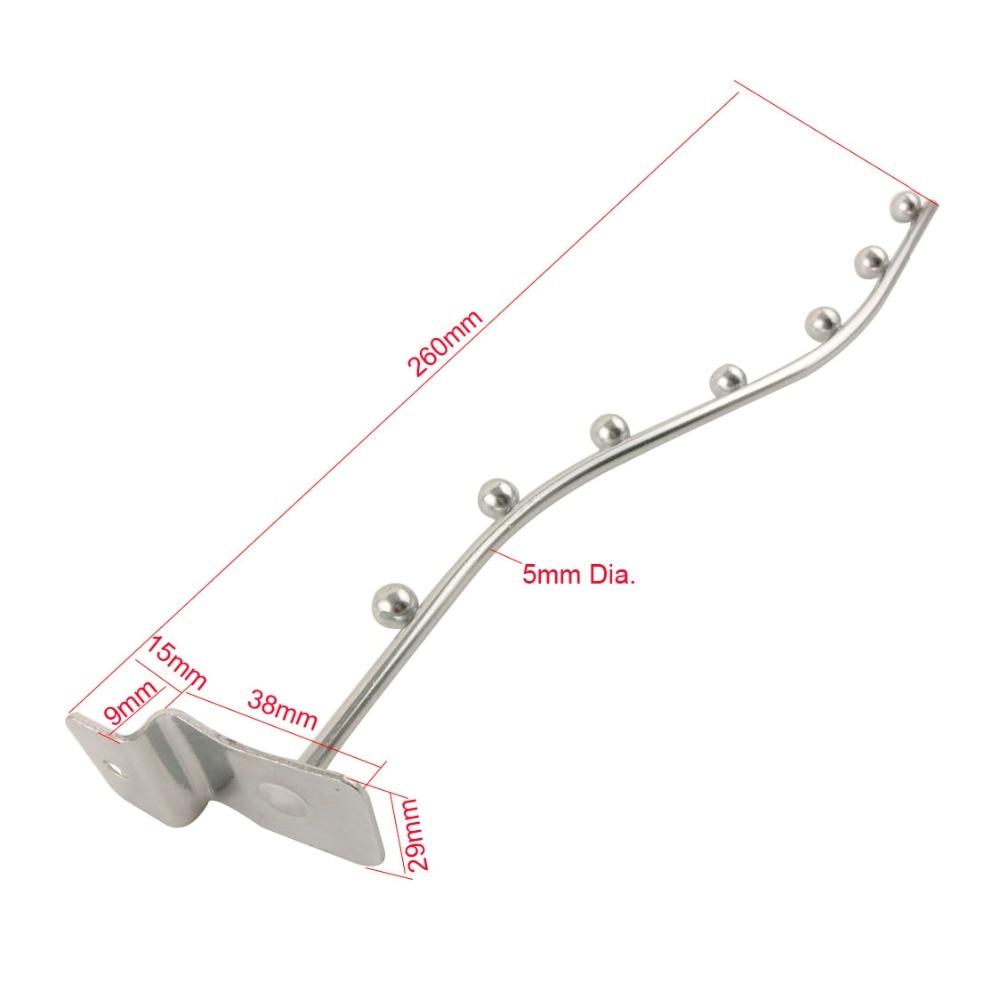 10pcs 260mm Length Supermarket Slatwall Hooks 5mm Wire Diameter Frid ...