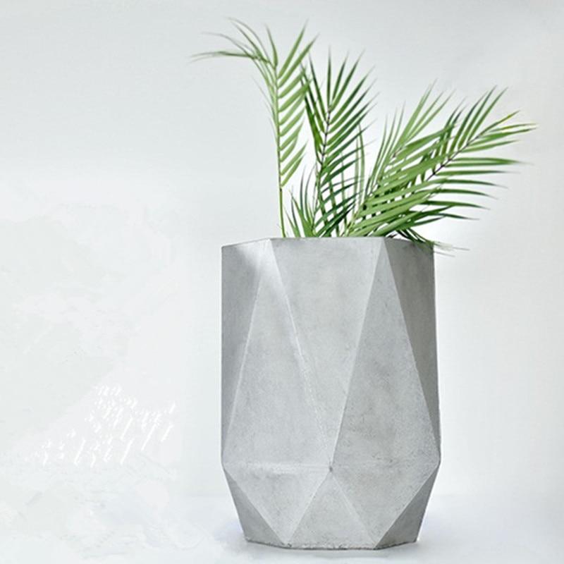 Silicone Flowet Pot Tray Mold Concrete Planter Holder Coaster Plaster Craft Tool
