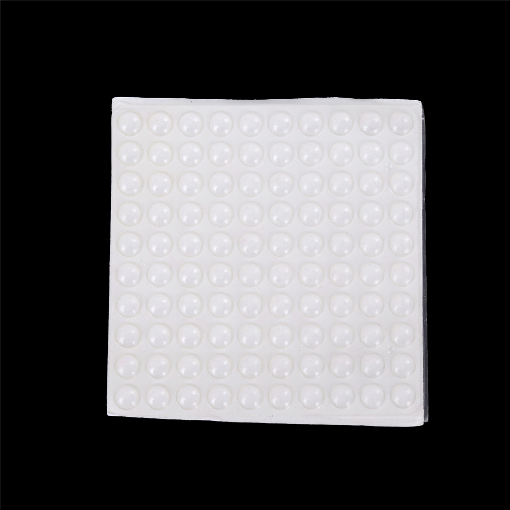 100pcs 8 x 2.5 mm Self Adhesive Rubber Feet Pad Silicone Transparent Bumpers Door Buffer Pad Self-adhesive Feet Pads