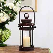 PINNY American Country Retro Candlestick Romantic Metal Candle Holders Wedding Decorations Decoration Home European Crafts