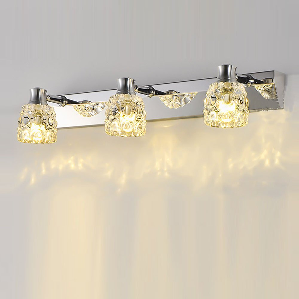 Applique Specchio Bagno Moderno us $67.8 |moderno bagno da parete in cristallo luce di cristallo gioiello  boxs chrome parete applique frontale specchio del bagno applique da parete