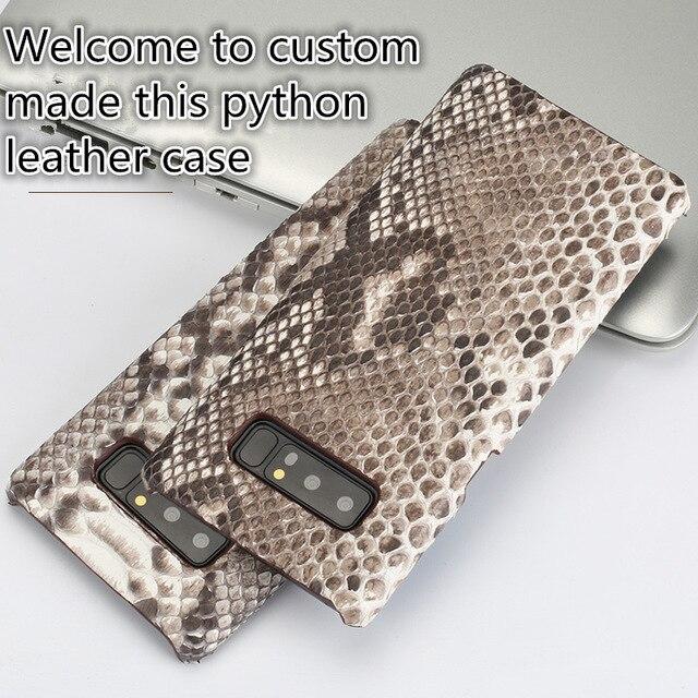 CH03 véritable Python cuir demi-enveloppé étui pour Sony Xperia XZ3 (6.0 ') coque de téléphone pour Sony Xperia XZ3 étui livraison gratuite