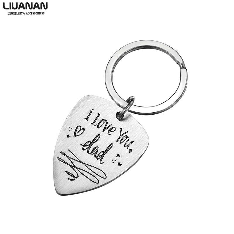 Guitar Pick Gift For Dad Music Keychain for Dad Keychain with Guitar Pick Father/'s Day Keychain Guitar Pick Keychain for Dad