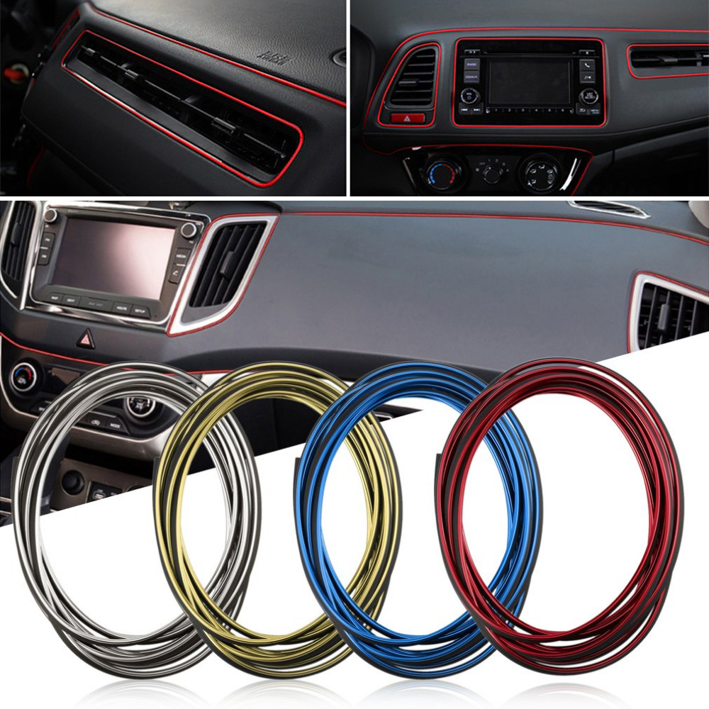 Car Interior Decoration Moulding Trim Strips For <font><b>Lada</b></font> Granta Vaz Kalina Priora Niva Samara 2 2110 Largus <font><b>2107</b></font> 2106 4x4 2114 2112 image