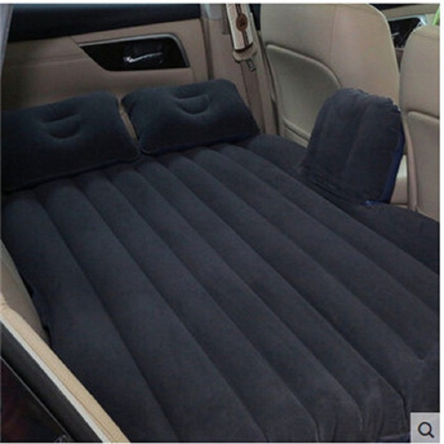 Car Air Mattress Travel Bed Car Back Seat Cover Inflatable Mattress Air Bed Good Quality Inflatable Car Bed For Camping(Khaki) tpu car air bed inflatable car air mattress travel bed inflatable camping bed folding bed